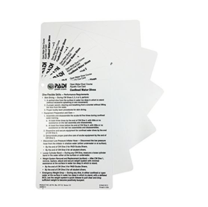 PADI Confined Water Aquatic Cue Cards