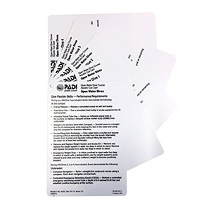 PADI Open Water Aquatic Cue Cards